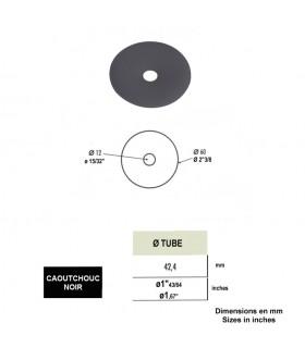 Rondelle caoutchouc noir pour système de marche