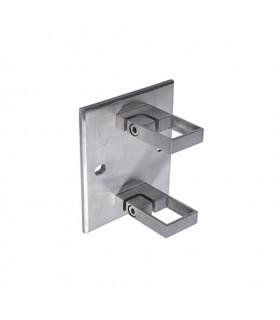 Platine carrée et anneaux de serrage INOX316