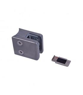 Pince à verre 45mm en ZAMAC BRUT pour poteau en tube Ø42,4mm