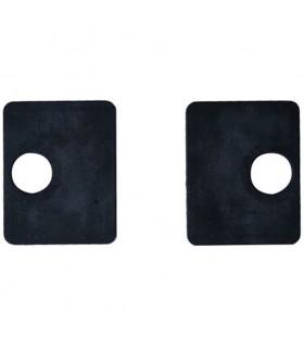Jeu de 2 caoutchouc pour pinces carrées 55mm à verre epr 8mm