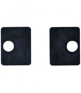 Jeu de 2 caoutchouc pour pinces carrées 55mm à verre epr 10mm