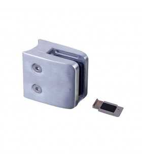 Pince à verre 45mm en INOX 316 pour poteau en tube Ø42,4mm