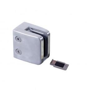 Pince à verre carrée 45mm en INOX316 pour plat