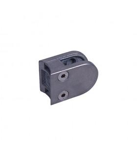 Pince à verre ronde 40x55mm en ZAMAC BRUT pour poteau en tube Ø42,4mm