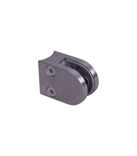 Pince à verre ronde 40x55mm en ZAMAC BROSSE pour poteau en tube Ø42,4mm