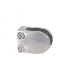 Pince à verre ronde 40x50mm en acier INOX 316 pour plat ou poteau carré