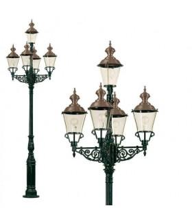 Réverbère 5 luminaires faubourg 3,75m