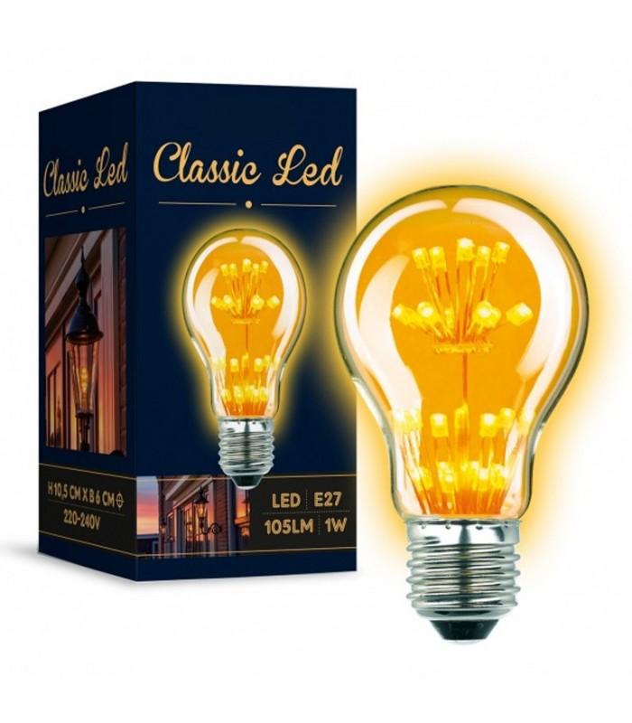 Ampoule rustique LED 1 watt. 105lumen.