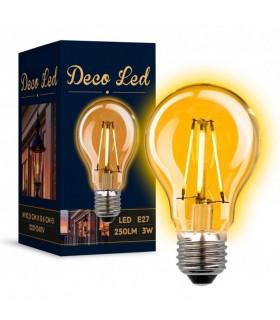Ampoule Déco E27 LED 3 watt. 250lumen.