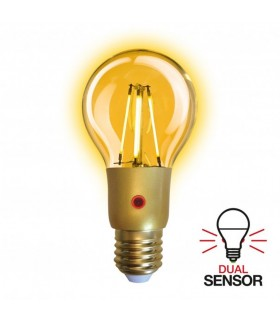 Ampoule LED 6 watt avec capteur Jour/Nuit. 250lumen.