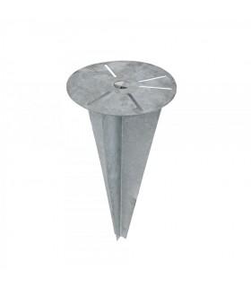 Clé d'ancrage coupe-vent ø 18,5cm pour fixation de luminaires.