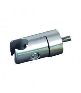 Pince à tôle / plat pour profil d'encadrement Ø18mm INOX304