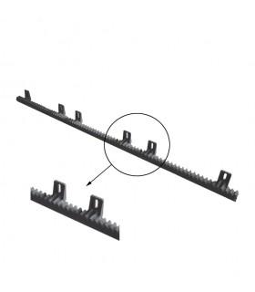 Crémaillère polyamide renforcée 1020mm pour portail coulissant 6 fixations