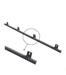 Crémaillère polyamide renforcée 1010mm pour portail coulissant 4 fixations