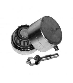 Pivot roulement bas Ø68mm 40x40mm pour fortes charges