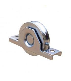 Roulette à encastrer ø120mm gorge en U INOX double roulement