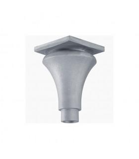 Base ou chapiteau aluminium Ø80mm lisse Hauteur 235mm