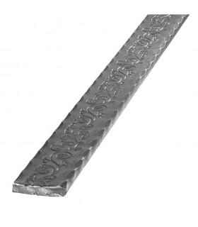 Main courante martelé 40x8 longueur 3m