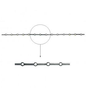 Barre trous renflés Ø14mm longueur 2m percée de 14 trous pour barres Ø14mm
