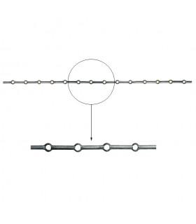 Barre trous renflés Ø16mm percée de 14 trous pour barres Ø16mm - longueur 2m