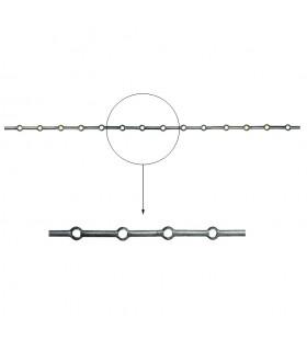 Barre trous renflés Ø18mm percée de 14 trous pour barres Ø18mm