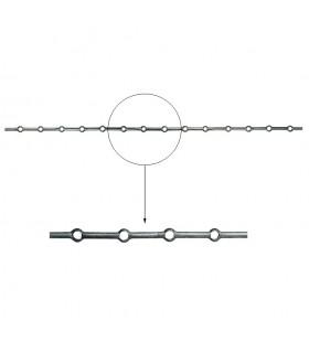 Barre trous renflés Ø20mm percée de 13 trous pour barres Ø20mm - longueur 2m