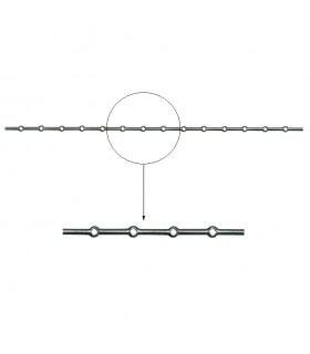 Barre losange 16x16mm percée de 14 trous renflés losange pour barres 16x16mm longueur 2m