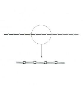 Barre losange 20x20mm percée de 13 trous renflés losange pour barres de 20x20mm longueur 2m