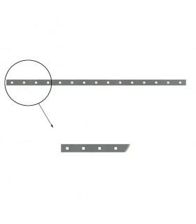 Barre poinçonnée 40x8mm 15 trous carrés de 17x17mm longueur 2m