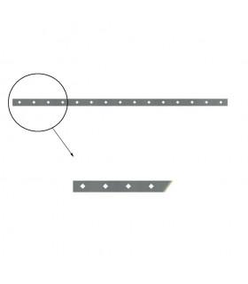 Barre poinçonnée 40x8mm 15 trous 15x15mm obliques longueur 2m
