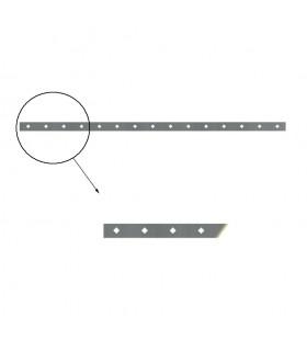 Barre poinçonnée 40x8mm 15 trous obques de 17x17mm longueur 2m