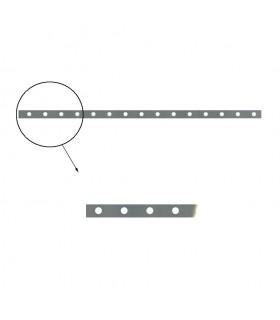 Barre poinçonnée 30x8mm longueur 2m 18 trous Ø12mm