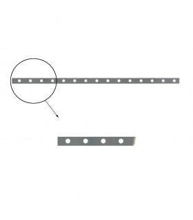 Barre poinçonnée 30x8mm longueur 2m 16 trous Ø12mm