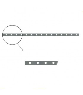Barre poinçonnée 40x8m 15 trous pour barreaux Ø16mm longueu 2m