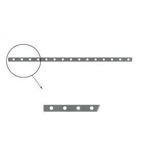 Barre poinçonnée 40x8mm 16 trous Ø21 longueur 2m