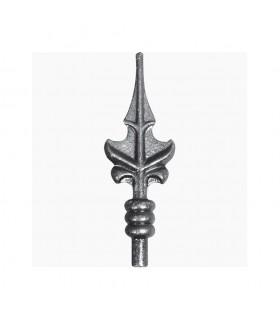 Pointe de lance acier à souder feuille hauteur 145mm