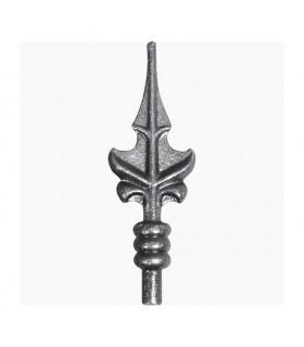 Pointe de lance acier à souder feuille hauteur 180mm