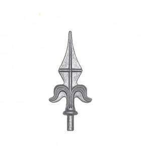 Pointe de lance aluminium pour cltureet portail ø16 hauteur 155mm