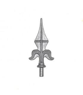 Pointe de lance aluminium cloture et portail ø13,5mm hauteur 155mm