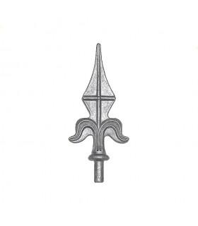 Pointe de lance aluminium pour cloture et portail ø12mm hauteur 130mm
