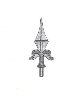 Pointe de lance aluminium pour portail et cloture ø16mm hauteur 130mm