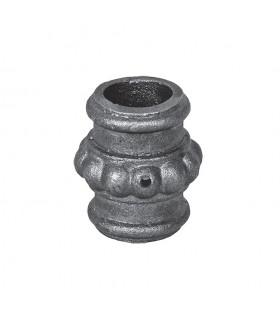 Olive, garniture manchon de taille moyenne en fonte aciérée pour barre diametre 16mm