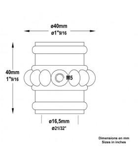 Manchon olive Garniture haute en fonte d'acier pour barres ø14mm