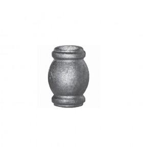 Garniture manchon taille intermédiaire en acier à souder pour balustre ø14mm