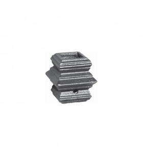 Manchon garniture dimension moyenne en fonte pour barreau de 16x16mm