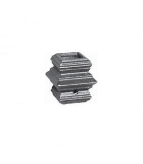 Manchon garniture moyenne en fonte vis 6 pans creux pour barre 20x20mm