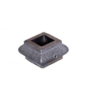 Garniture olive manchon courte en fonte vis BTR pour balustre 16x16mm