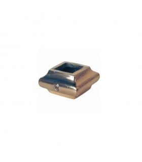 Olive, manchon garniture en laiton poli verni pour barreau carré 16x16mm