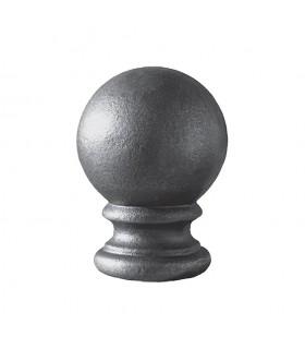 Boule de départ pour cloture ou escalier en acier forgé Hauteur 125mm