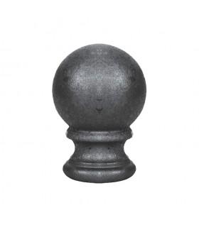 Boule de départ d'escalier ou de poteau de cloture en fonte hauteur 125mm